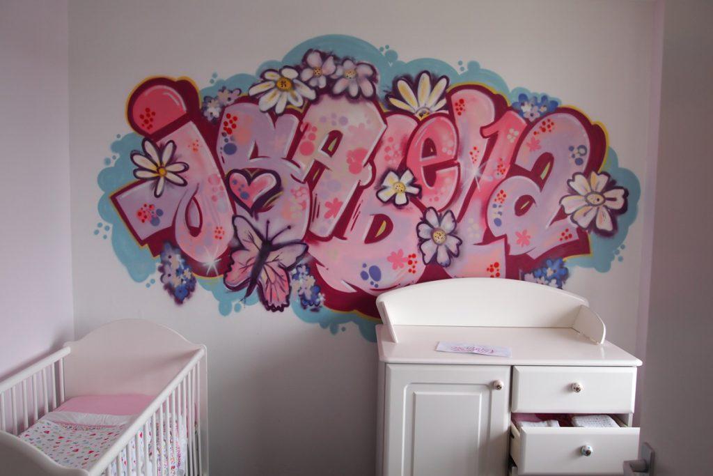 Graffiti naam babykamer
