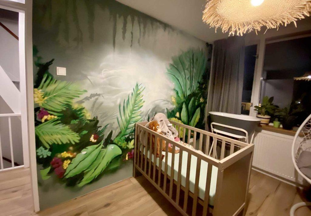 Graffiti jungle slaapkamer