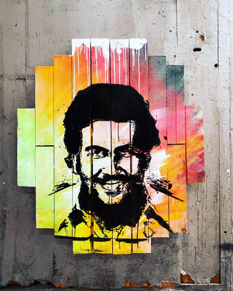Streetart portret style