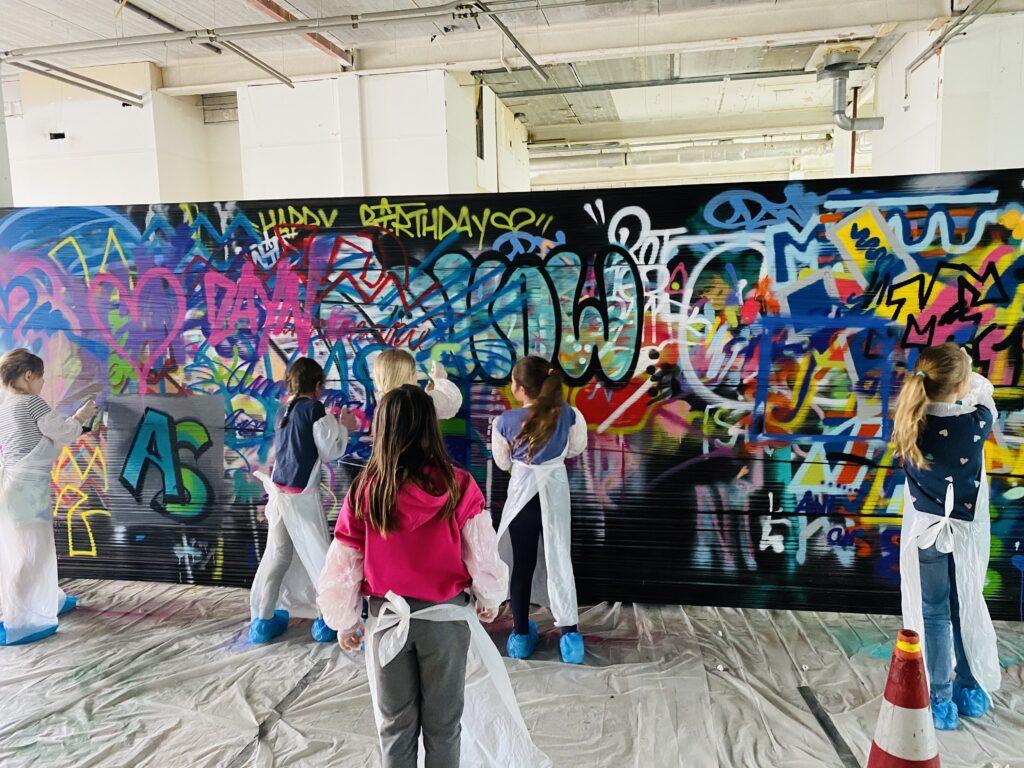 Graffiti-kinderfeestje