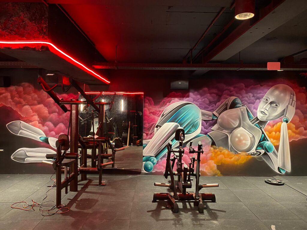 Graffiti sportschool