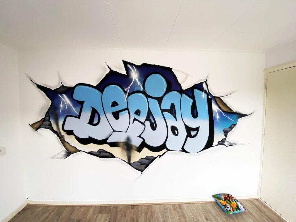 graffiti-kinderkamer-met-naam-rozenburg