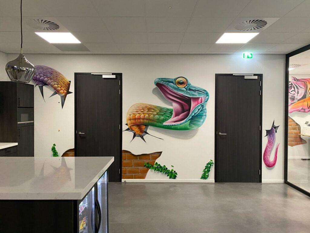 graffiti in kantoor