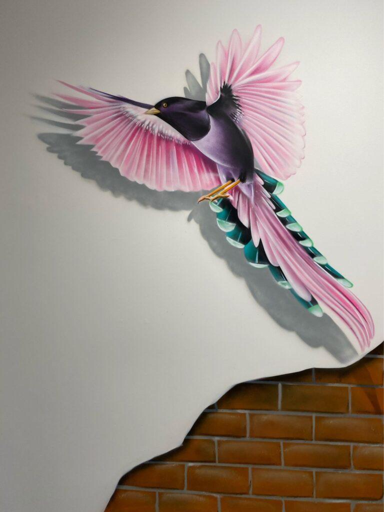 graffiti vogel